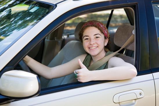 Teen Driver Thumbs Up